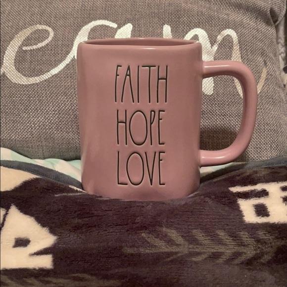 💜 Rae Dunn Purple Faith Hope Love Mug